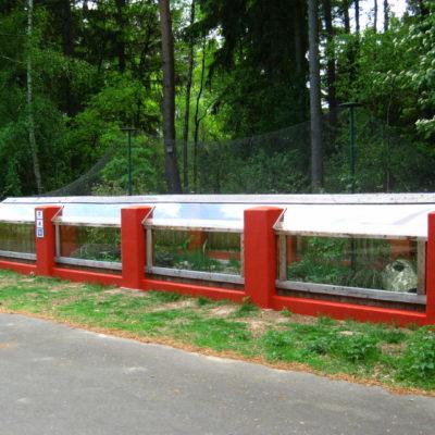 Schaugehege der Nerze Wildtierstation Sachsenhagen